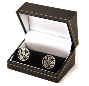 Scottish Thistle Cufflinks Thumbnail 2