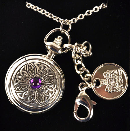 Ladies Pendant Watch With Celtic Knot & Stone
