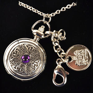 Ladies Pendant Watch With Celtic Knot & Stone Thumbnail 1