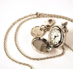 Ladies Pendant Watch With Celtic Knot & Stone Thumbnail 5