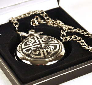 Celtic Square Knot Pocket Watch Thumbnail 2