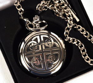 Celtic Square Knot Pocket Watch Thumbnail 3