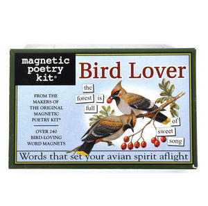 Bird Lover - Fridge Magnet Poetry Set - Fridge Poetry Thumbnail 1
