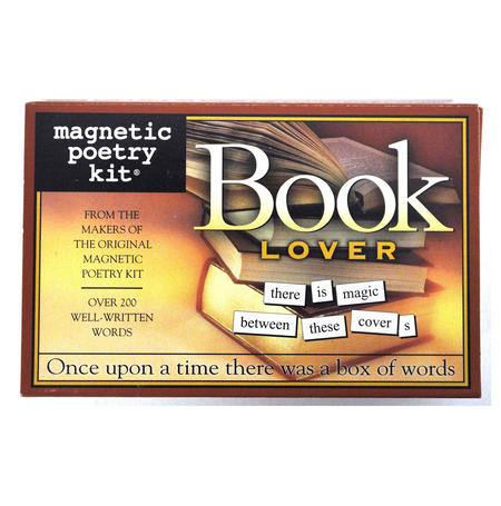 Book Lover - Fridge Magnet Poetry Set - Fridge Poetry