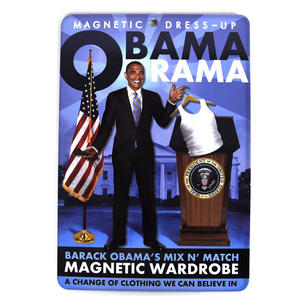 Barack Obama Obama-Rama Magnetic Wardrobe Fridge Magnet Set Thumbnail 1