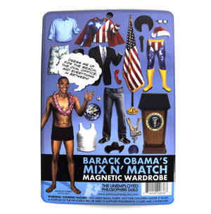 Barack Obama Obama-Rama Magnetic Wardrobe Fridge Magnet Set Thumbnail 3