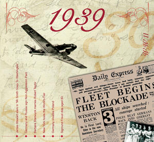 1939 The Classic Years 20 Track Cd Greetings Card