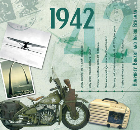 1942 The Classic Years 20 Track Cd Greetings Card