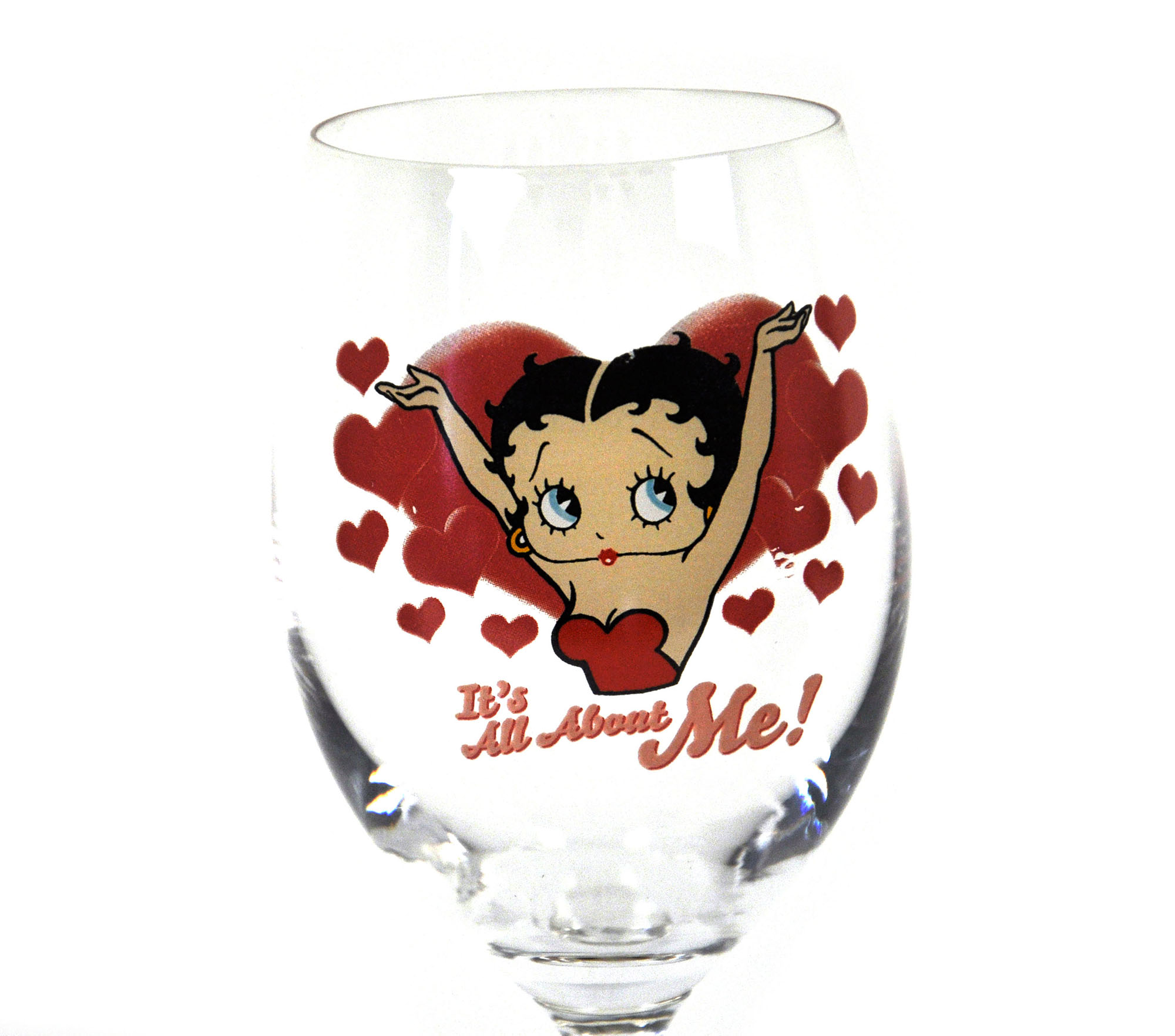 Betty Boop It S All About Me Wine Glass Pink Cat Shop