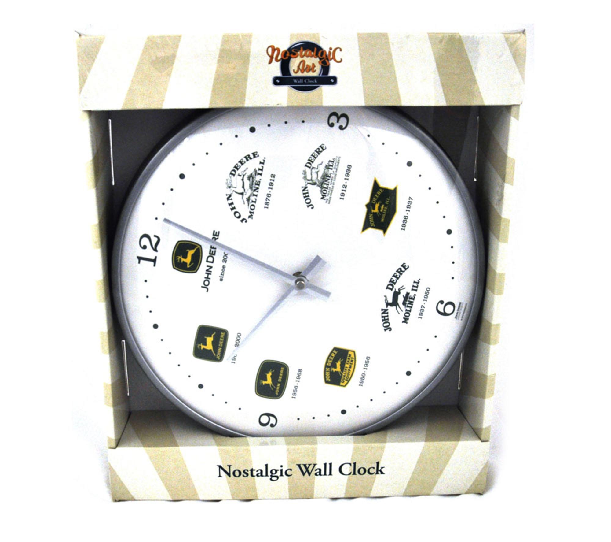 John Deere Wall Clock Pink Cat Shop