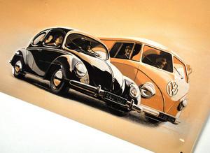 Volkswagen Fridge Magnet Memo Board Thumbnail 3