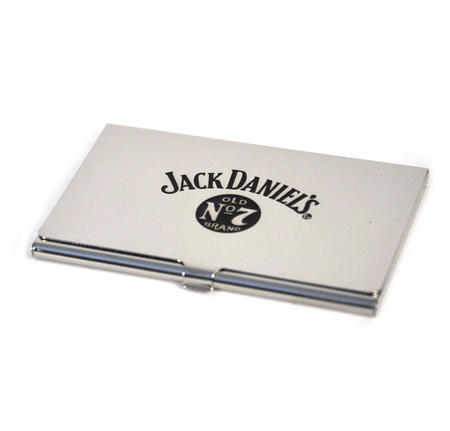 Jack Daniels Stainless Steel Business Card Case