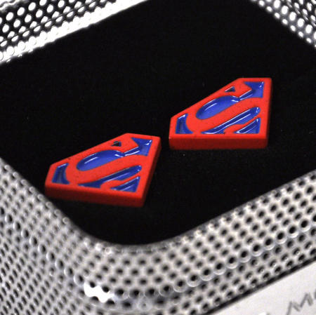 Cufflinks - Superman - Red On Blue