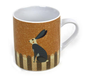 Rabbit - Dusk Wildlife Magpie Mug Thumbnail 1