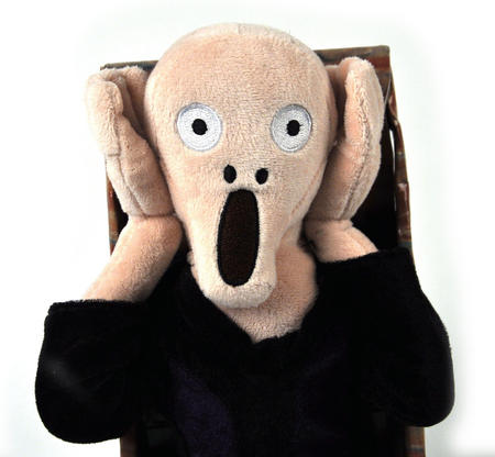 Edvard Munch's The Scream Soft Toy - With Scream Sound Fx