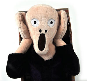 Edvard Munch's The Scream Soft Toy - With Scream Sound Fx Thumbnail 1