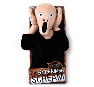 Edvard Munch's The Scream Soft Toy - With Scream Sound Fx Thumbnail 2