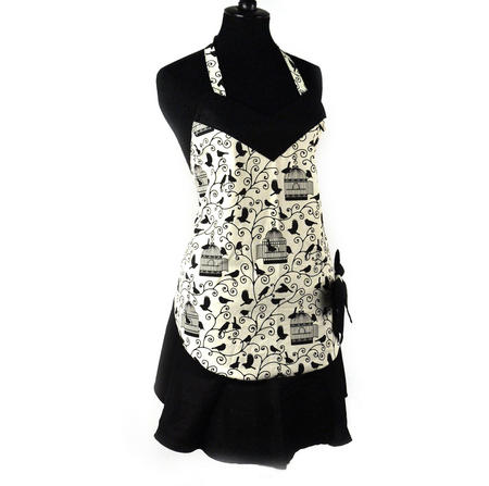 Birdcage Bow Little Black Apron