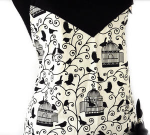 Birdcage Bow Little Black Apron Thumbnail 5