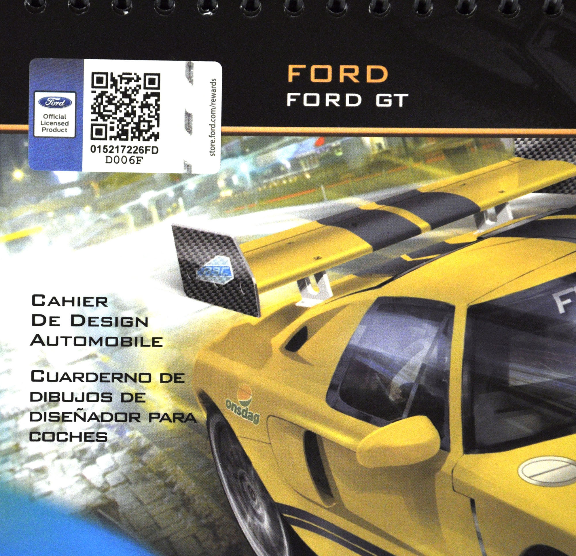 Car Designer Sketchbook Set Ford Gt
