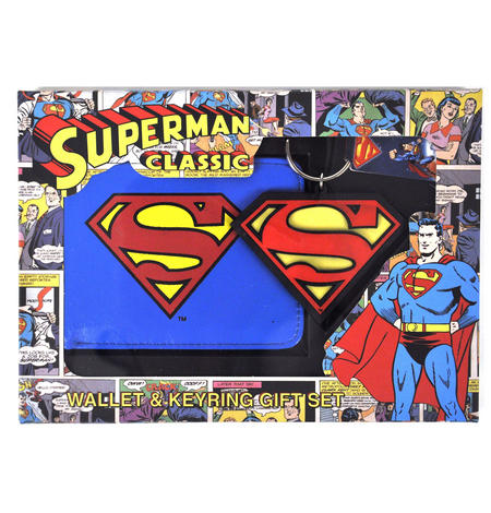 Superman Wallet & Keychain Set