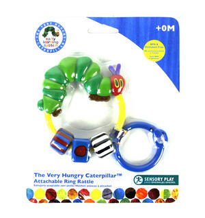 Very Hungry Caterpillar Attachable Ring Rattle Thumbnail 1