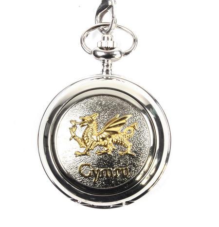 Gold Welsh Dragon Pocket Watch