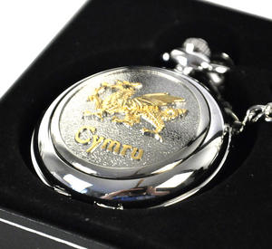 Gold Welsh Dragon Pocket Watch Thumbnail 1