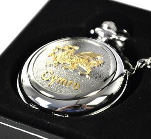 Gold Welsh Dragon Pocket Watch Thumbnail 2