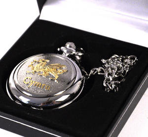 Gold Welsh Dragon Pocket Watch Thumbnail 2
