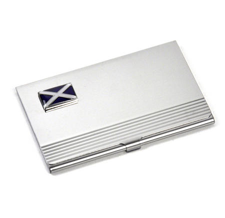Scotland Business Card Case - Scottish St. Andrews Cross