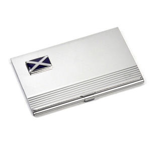 Scotland Business Card Case - Scottish St. Andrews Cross Thumbnail 1
