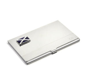Scotland Business Card Case - Scottish St. Andrews Cross Thumbnail 2