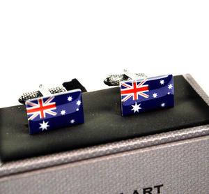 Cufflinks - Australia - Australian Flag Thumbnail 1