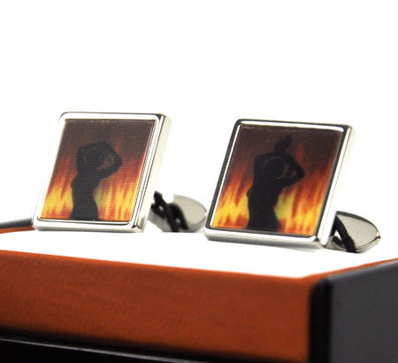 Animated Cufflinks - Fire Dancer By Sonia Spencer