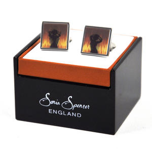 Animated Cufflinks - Fire Dancer By Sonia Spencer Thumbnail 2