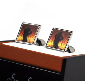 Animated Cufflinks - Fire Dancer By Sonia Spencer Thumbnail 3