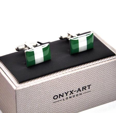 Cufflinks - Nigeria - Nigerian Flag