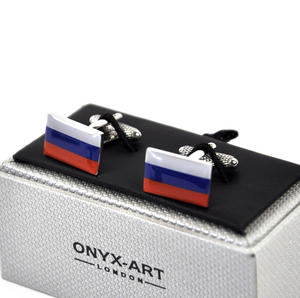 Cufflinks - Russian Federation - Russian Trikolor Flag Thumbnail 3