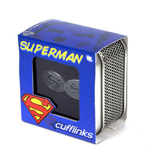 Superman Cufflinks - Raised Enamel Thumbnail 3