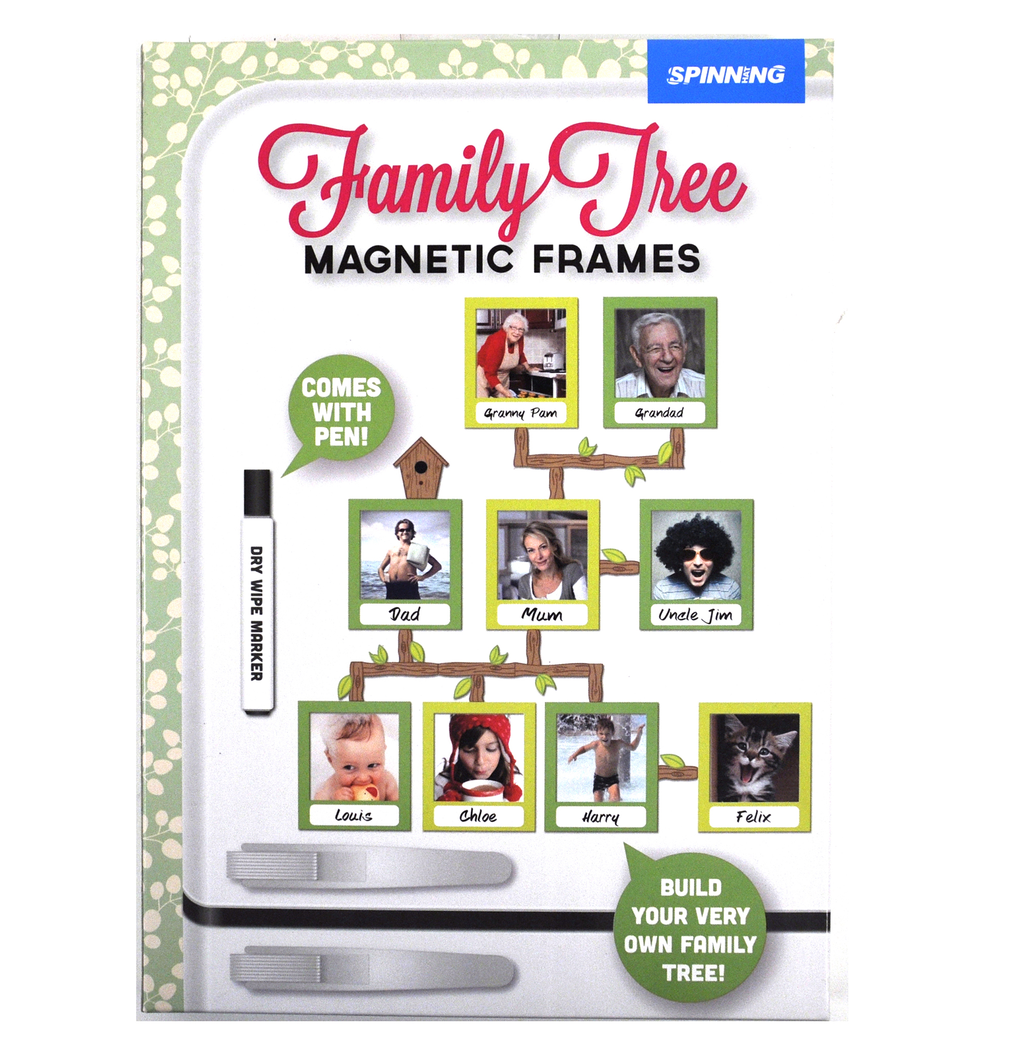 Family Tree Frames Fridge Magnet Set | Pink Cat Shop