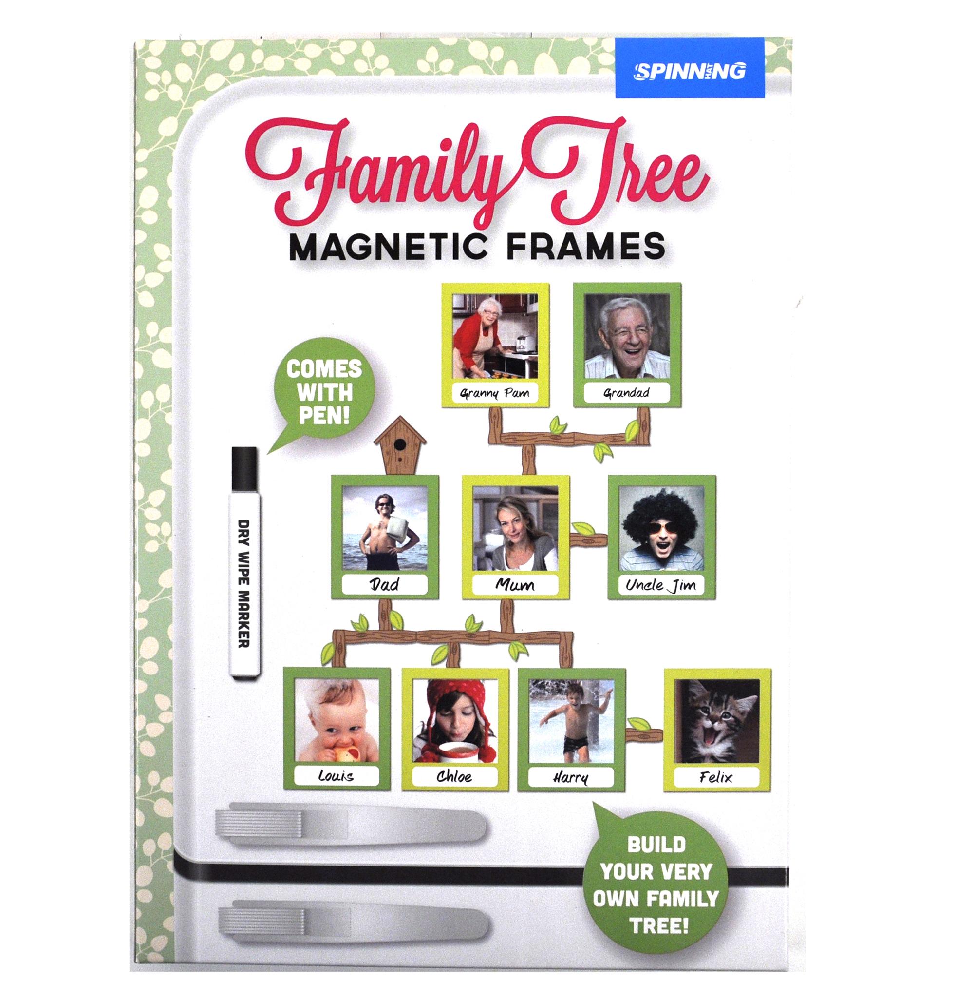 family tree frames fridge magnet set pink cat shop. Black Bedroom Furniture Sets. Home Design Ideas
