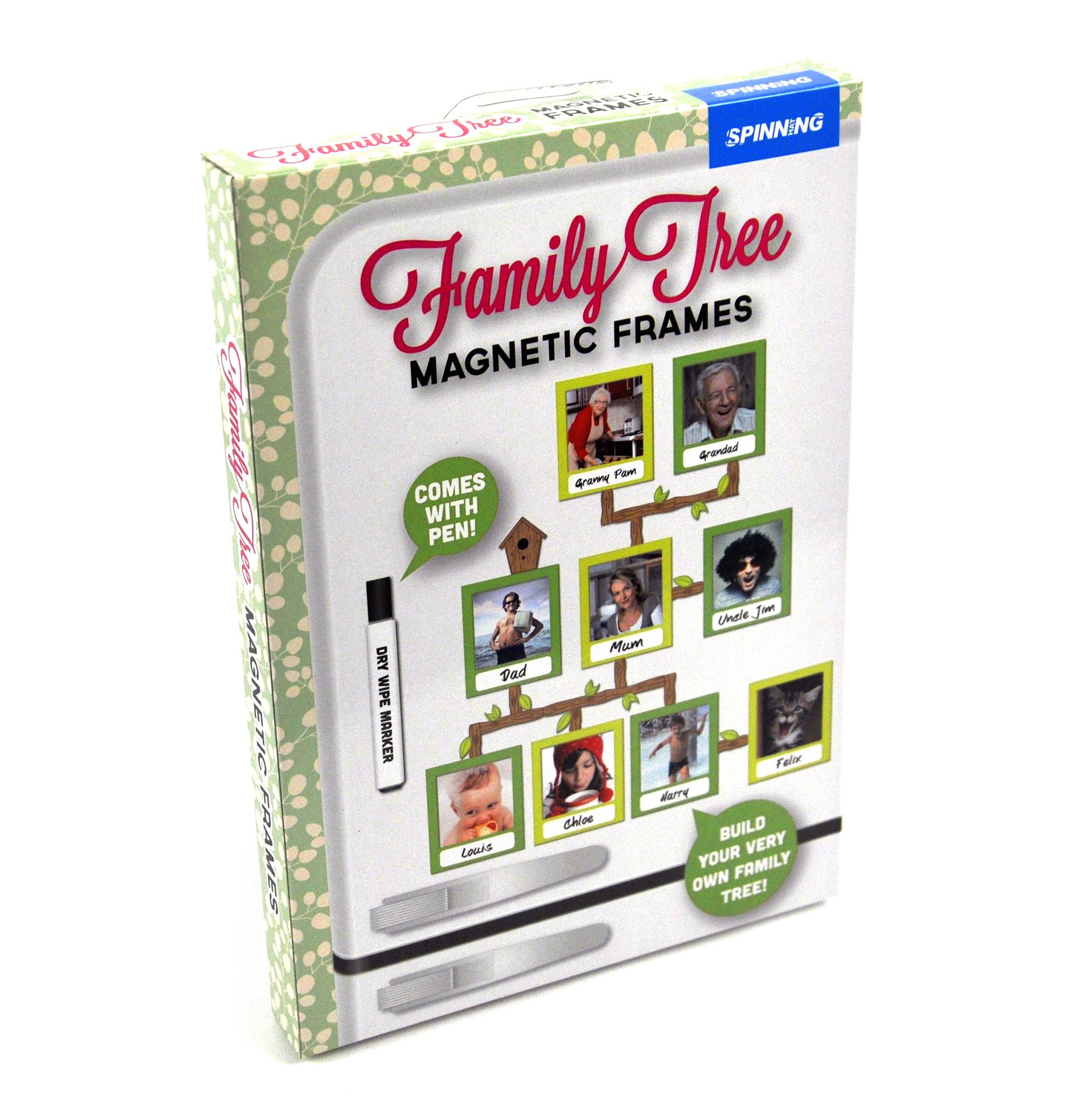 Family Tree Frames Fridge Magnet Set | Pink Cat Shop