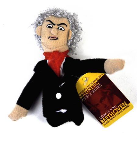 Ludwig Van Beethoven Finger Puppet & Fridge Magnet