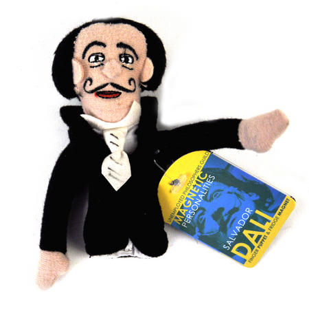 Salvador Dali Finger Puppet & Fridge Magnet