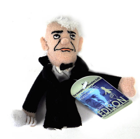 Thomas Edison Finger Puppet & Fridge Magnet