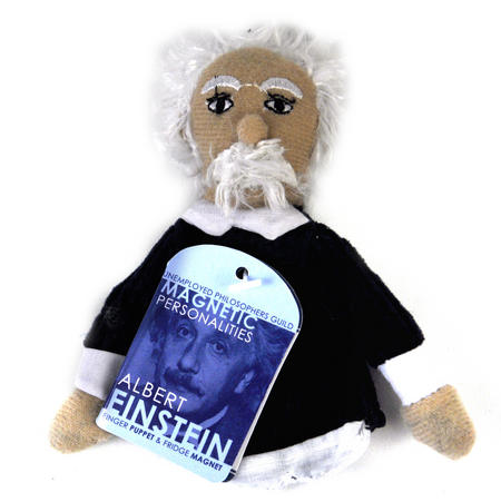 Albert Einstein Finger Puppet & Fridge Magnet