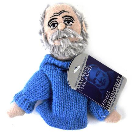 Ernest Hemingway Finger Puppet & Fridge Magnet