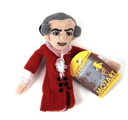Wolfgang Amadeus Mozart Finger Puppet & Fridge Magnet