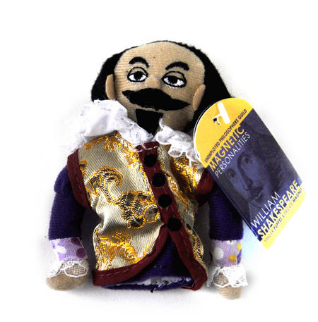 William Shakespeare Finger Puppet & Fridge Magnet